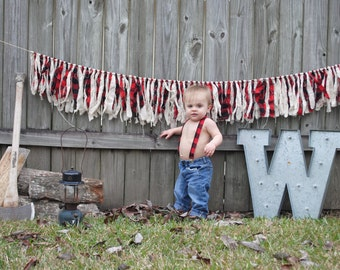 Lumber Jack Theme Bunting, Buffalo Plaid Garland, Buffalo Plaid Bunting, Lumberjack Theme, Lumberjack Party