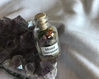 Gemstone Bottles for Carrying With You or Crating