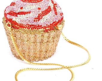Custom Cupcakes Crystal  Clutch