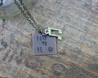 "Born to Be - Hanson ""I Was Born"" Lyric-inspired Hand-stamped Necklace"