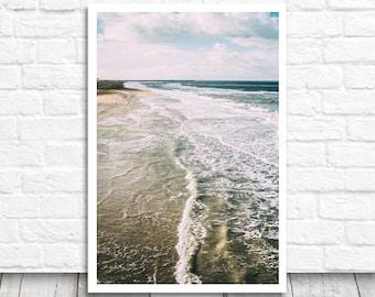 Sea Print, Sea Wall Art, Sea Printable Art, Wave Print, Landscape Print, Digital Download, Water Print, Beach Print, Sea Photography