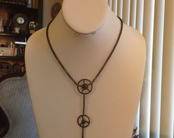 Steampunk Stretch Necklace (Copper )