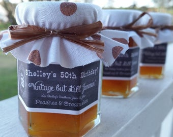 50th Birthday Favors - Milestone Birthday Favors - Adult Birthday Party Favors - 40 (2oz) Jam Favors - Personalized Birthday Favors - Favors