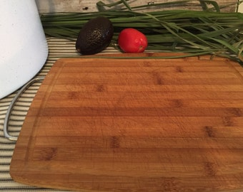Wood Cutting Board // Rectangular // Cheese Board // Serving Board // Stainless Steel