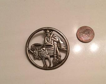 SALE 28.00 ... Vintage 800 silver mexico brooch pin