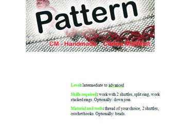 Tatting pattern Drops and bows