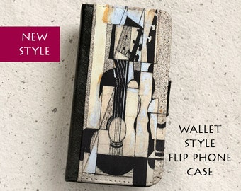 iPhone Case (all models) - Juan Gris - Guitar - Wallet style flip case -  Samsung Galaxy ,S4,S5,S6,S7Edge,Note5,S8,S8Plus & more