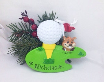 Golf Christmas Ornament/ Personalized Christmas Ornament / Personalized Golfer Ornament / Gift for Golfer