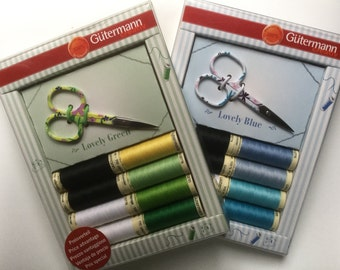 Gutterman sewing thread and scissor gift set