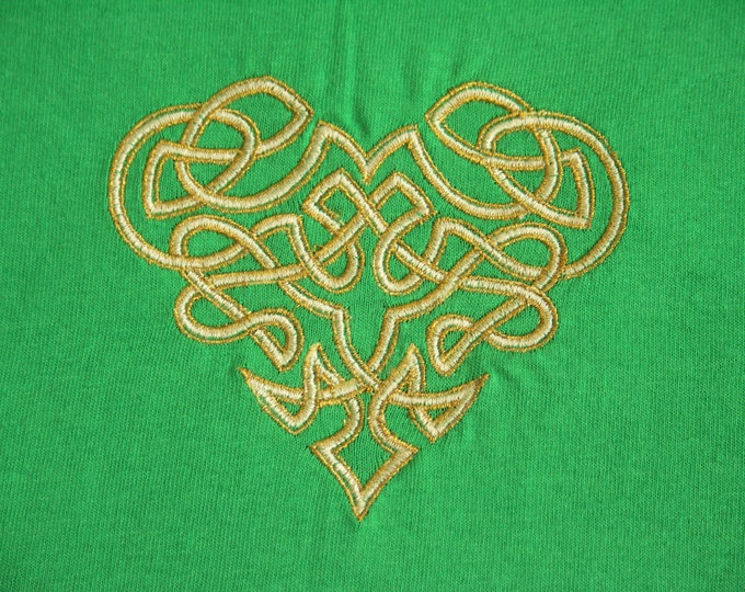 Childs' T-Shirt - 3 - 4 Years - Gold Celtic Knotwork