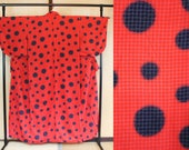 Japanese kimono red black...