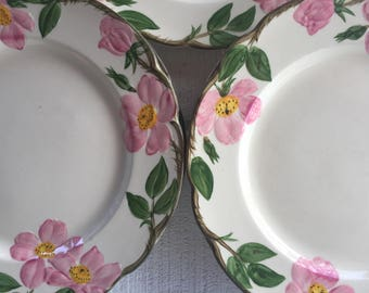 Vintage Franciscan Desert Rose Dinner Plates, USA California Pottery, Franciscan Dinnerware made in USA,  Desert Rose replacement dishes