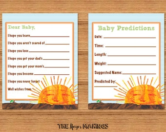 Eric Carle Hungry Caterpillar Baby Shower Cards *INSTANT DOWNLOAD*