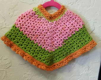 Strawberry kiwi Grace poncho