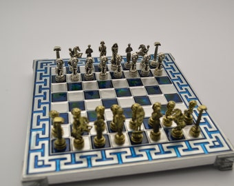 Atlas chess set (20X20cm) / Aluminium chess board