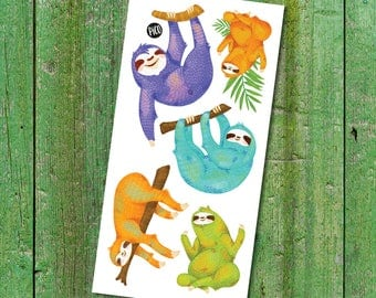 Temporary Tattoos - The Happy Sloths