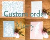 Custom order Mary - Ansichtkaarten