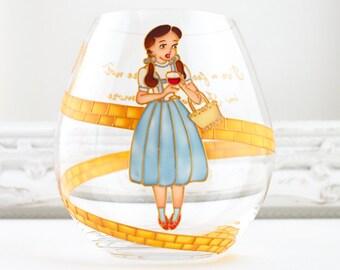 Dorothy In Oz Crystal Stemless Goblet