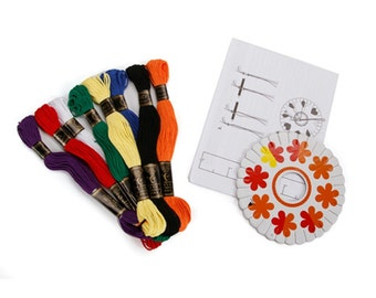 Friendship Bracelet Kit, Primary Colors (darfrnd0012)