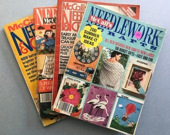 Lot of 4 McCall's Needlework & Crafts Magazines, 1970s
