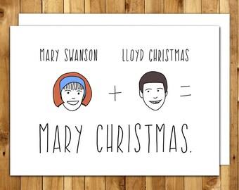 Funny Christmas Card - Funny Holiday Card - Dumb and Dumber Christmas - Christmas Card Funny - Holiday Card Funny - Lloyd Christmas