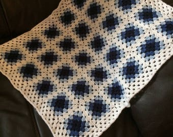 Hand Crocheted Baby Blue Blanket
