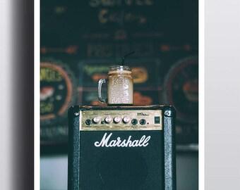 Amplifier Poster - 11X17 - Wall Art Print - Music Print - Band - Guitar Amp - Music Theme - Studio