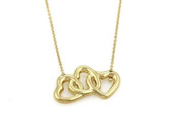 20236 - Tiffany & Co. 18k Yellow Gold Triple Interlaced Hearts Pendant