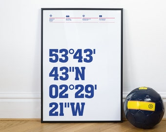 Blackburn Rovers Football Stadium Coordinates Posters