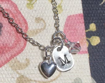 Initial Necklace / Charm Necklace