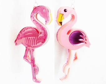 Flamingo reversible necklace