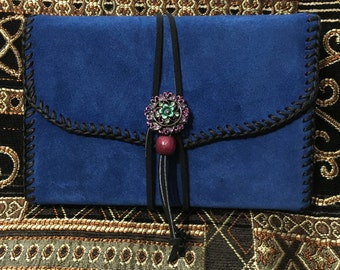 """Blue Suede Refillable Journal 4"""" x 6"""""""