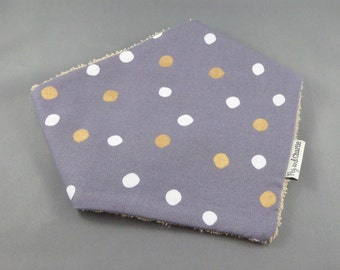 Bandana Dribble Bib - Spots of Gold