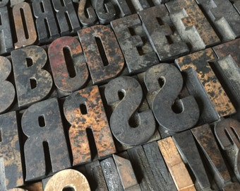 Pick Your Letters / Vintage Letterpress / Antique Letterpress / Printer Block Letter / Wood Type / Wood Letters / Vintage Type