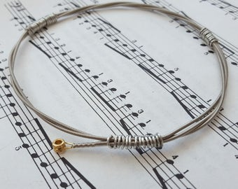 Guitar string bracelet Size M, guitarist, guitar player, cool music rock jewellery