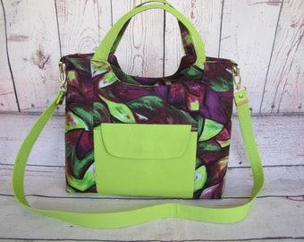 Purple and Lime Green shoulder/handbag