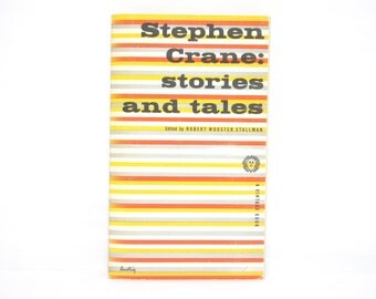 Alvin Lustig Cover Design ~ Stephen Crane: Stories and Tales Edited by Robert Wooster Stallman 1955 Vintage Book