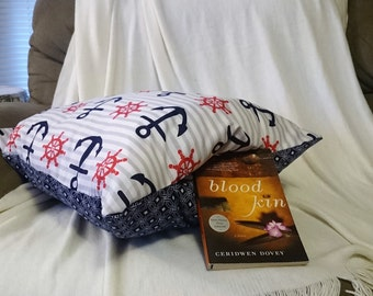 Nautical pillow. Anchor pillow. Sailor Pillow. Keepsake Pillow. Nautical decor. Nautical gift. Sailor gift. Anchor Throw pillow