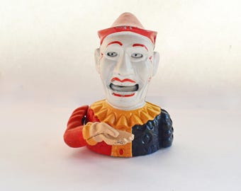 Clown Bank, Cast Iron Bank, Humpty Dumpty Mechanical Bank, Dye Cast Bank, Cast Iron Bank, Clown Toy Bank, Collectible Bank, Iron Bank