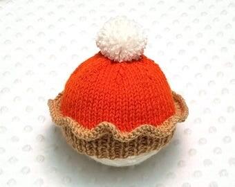 Pumpkin Pie Baby Hat • Pumpkin Pie Newborn Hat • Thanksgiving Baby Hat • Thanksgiving Newborn Hat • Fall Baby Hat • Autumn Baby Hat • Gift