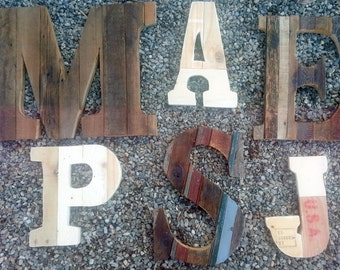 Relcaimed Wood Letters