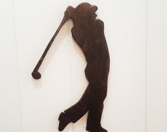 Golfer Wooden Cutout, Golf Decor, Father's Day Gifts, Golf Gifts for Men,