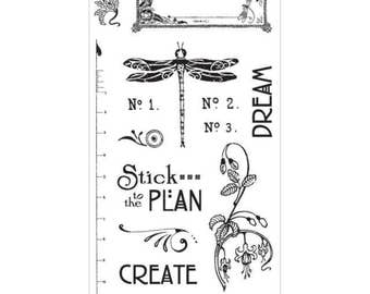 Graphic 45 ARTISAN STYLE 2 Cling Stamps IC0327S 1.cc72
