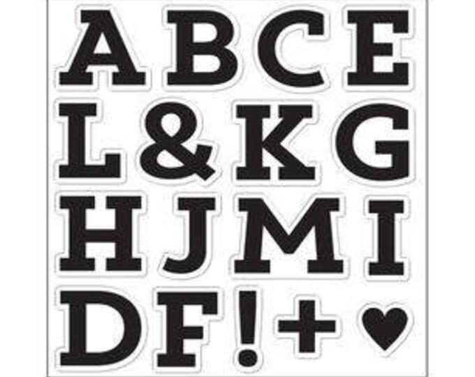 Featured listing image: Fiskars 8x8 Full Double Sheet Clear Stamp Set - BLOCK MONAGRAM Alphabet Letter Stamps 1.cc04