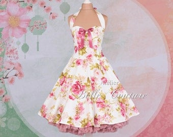 """Bridesmaid dress """"Pretty roses III"""" in the style of the petticoat"""