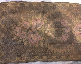 Vintage Tapestry Table Runner Roses