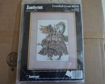 Janlynn Counted Cross Stitch  The Castle #112-27   Castle with Dragon