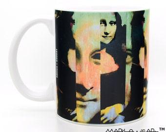 Mona Lisa coffee mugs unique 11 oz ceramic cups - Novelty np
