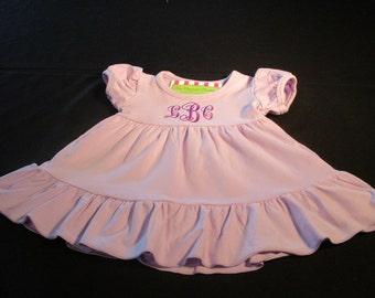 Girl Personalized Dress-Girl Monogrammed Lilac Dress-Girl Easter Dress-Girl Birthday Dress-Purple Girl Dress- Portrait Dress-Lavendar Dress