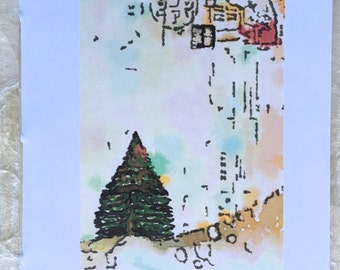 Tomoe River Insert - Fir Tree Zen - Midori Travelers Notebook Insert